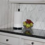 GRANITE WITH MARBLE BACKSPLASH